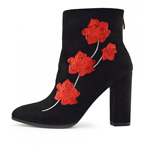 Kick Footwear Chelsea Boots, Stivali donna Black-Red