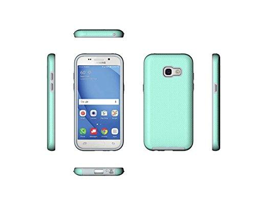 YHUISEN Galaxy A3 2017 Case, 2 In 1 TPU und PC Ultra Slim Anti-Rutsch Anti-Shock Rüstung Kratzer Resistant Schutzhülle für Samsung Galaxy A3 2017 A320 ( Color : Rose ) Green