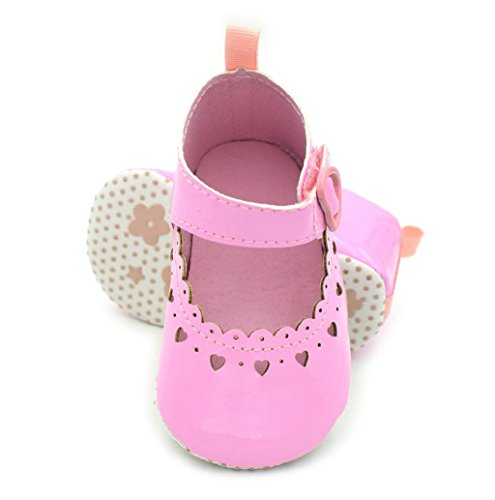 Rosennie Baby Mädchen Weich Soled Anti-Rutsch Fußbekleidung Aushöhlen Schuhe Rosa
