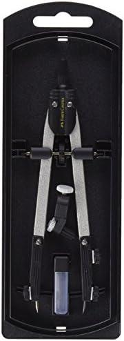 Faber-Castell 32722-8 - Compás de ajuste rápido, con tornillo central, articulaciones en ambos brazos y acceso