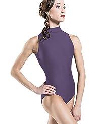Wear Moi satélite Leotardo Mujer, Mujer, color ciruela, tamaño small