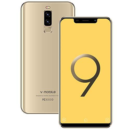 4G Telephone Portable debloqué S9+(2019) 3Go RAM + 16Go ROM Android 8.1 5,85 Pouces Dual 13MP + 5MP Caméras 4300mAh Batterie Double SIM Face ID Telephone Portable Pas Cher (Or)