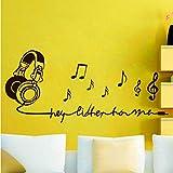 Jasonding Musik Hinweis Dekorieren Wandschmuck Vinyl Wandaufkleber Für Kinderzimmer Abnehmbare Wandtattoos Wohnzimmer Wohnkultur Wandbild 94 * 42 Cm