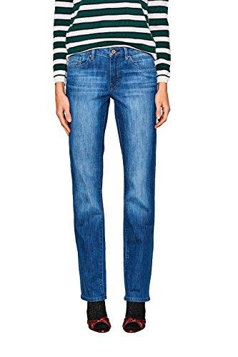 edc by ESPRIT Damen Straight Jeans 018CC1B008, Blau (Blue Medium Wash 902), W30/L32