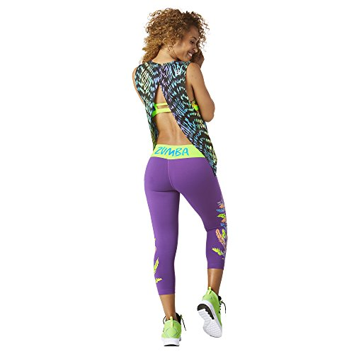 Zumba Fitness® Dancing Warrior Open Back Tank Mujer Tops, Todo el año, Mujer, Color In Purple, tamaño Extra-Large