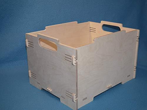 Stapelbox Größe A4 Aufbewahrungsbox Lagerbox Holzkiste Kasten Truhe Holz