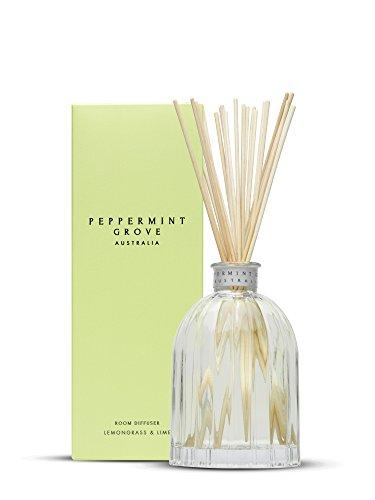 Peppermint Grove Große Diffusor 350ml in Ornament Custom Glas Lemongrass & Lime -