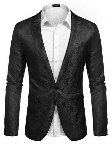 y-Kleid, leicht, stylisch, Slim Fit Jacke, Blazer für Hochzeit, Abschlussball, Abendessen, Party Gr. L, Schwarz ()