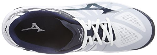 Mizuno Wave Lightning Z Chaussures pour homme Multicolore - Mehrfarbig (White/DressBlue/Silver 14)
