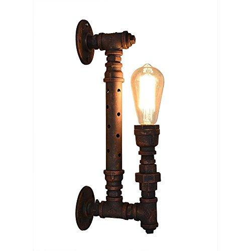 IVNGRI Apliques de Pared Retro Industrial Led Lámpara de Pared Corredor Pasillo Dormitorio Lámpara de cabecera Lámpara de Pared Lámpara de Hierro Forjado Tubo de luz