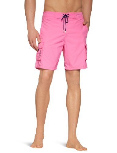 Hom - Maillot de bain boxer - Homme Red - Pink (PINK)