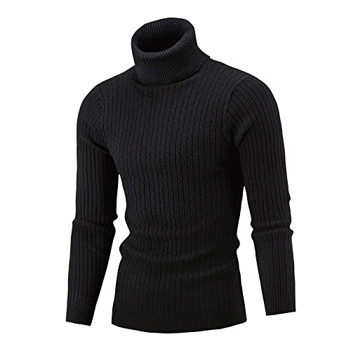 Pullover Sweater Sweatshirt, SUNNSEAN Bluse Winter Männer Schlank Warm Knit High Neck ollkragen Top T-Shirt Langarmshirts Jumper