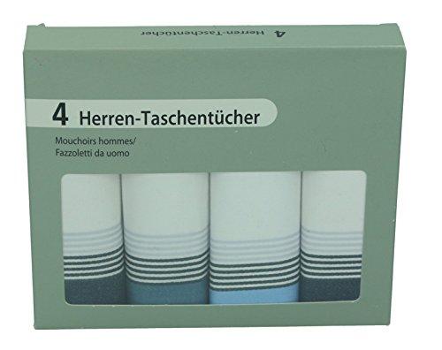 Betz Lot de 4 mouchoirs en tissu pour homme dans un emballage cadeau, 100% coton Dessin 3
