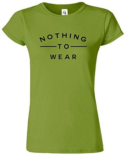 Nothing To Wear Du Nouveau Slogan élégant drôle Dames TShirt Cadeau Kiwi / Noir Design