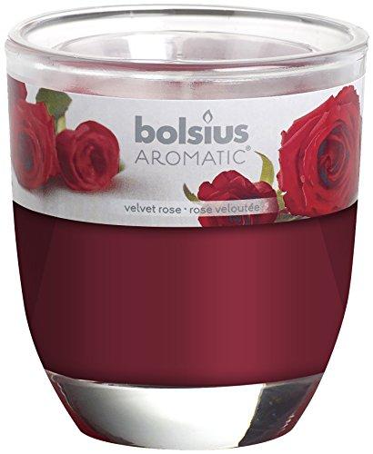 Bolsius Duftglas 80 x 70 mm, Velvet Rose