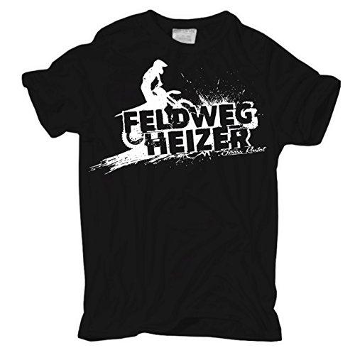 Motocross T-shirts (Männer und Herren T-Shirt Feldwegheizer (mit Rückendruck))