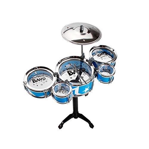 Kinder-Jazz Drum Set 5 Drums Becken Kick-Pedal 2 Drumsticks Wenige Rockstar Kit Kinder Instrument Percussion Toy Blau L - Verwendet-chrom-felgen