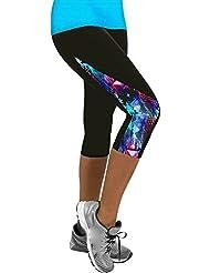 Mujeres Damas Floral Deportes Yoga Fitness Leggings Gimnasio 3/4 Pantalones Recortados Yoga Slim Fit Pantalones Leggings Moda Imprimiendo Running Yoga Fitness Gimnasio Pantalones