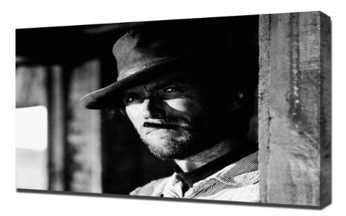 pingoo Prints Eastwood, Clint (Good, The Bad, and the Ugly, The) _ 2,5cm Kunstdruck, Leinwand, mehrfarbig, 60x 90x 5cm (Clint Eastwood Leinwand)