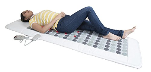 JSB HF94 Tourmaline Hot Stone Massager Mattress : Thermal Therapy for Full Body Pain Relief (50cm X 155cm)  available at amazon for Rs.11999