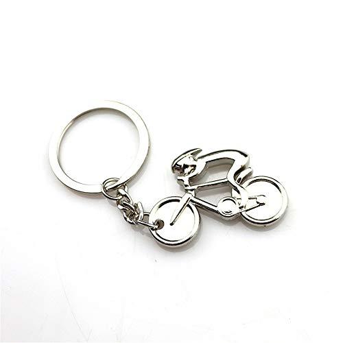 AZXCyJ Schlüsselanhänger, Hängende Verzierung, Dynamisches Mountainbike-Metall-Schlüsselanhänger