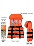 #3: Delight Apex Ruby Adult Life Safety Jackets Vest Weight Capacity 40-120+ Orange with Head Support