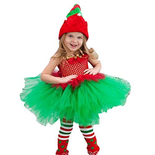 Happy Event Kinder Baby Mädchen Prinzessin Weihnachten Cosplay Geburtstag Kleid Party Kleidung (5-6 Years-140)