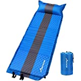 MOVTOTOP Camping Sleeping Pad Self Inflating with Attached Pillow - Lightweight and Compact