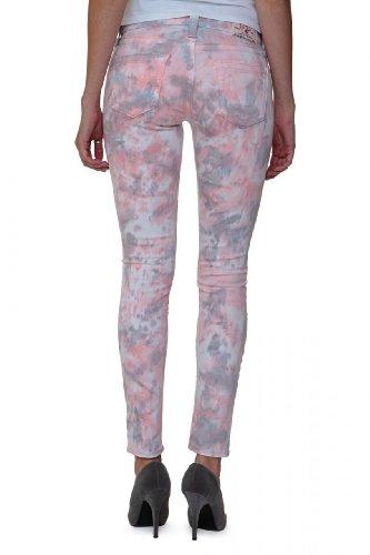 True Religion Damen Jeans Skinny Skinny Jeans HALLE SUPER SKINNY Wash WP TIE DYE SHELL, Farbe: Rosa, Größe: 27 (Tie-dye-stretch-denim)