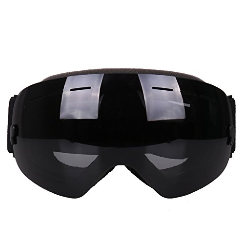 LYLhmj Skibrille Outdoor-Sport Snowboard-Schutzbrillen mit Anti-Nebel UV-Schutz Austauschbare sphärische rahmenlose Linse, winddicht Ski-Schutzbrillen für Motorrad Fahrrad Skifahren Skaten (Schwarz)