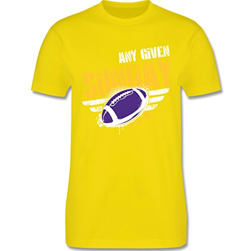 Shirtracer American Football - any Given Sunday Football Minnesota - Herren T-Shirt Rundhals Lemon Gelb