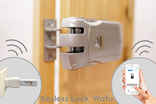 Keyless Lock Wafu Cerradura electrónica inteligente+USB Bluetooth apertura con móvil.Desbloqueo con mandos o smartphone.Cerrojo de seguridad antirrobo.
