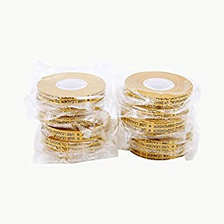 JVCC ATG-7502 ATG Tape: 1/2 in. x 36 yds. (Clear Adhesive on Gold Liner) [12 Pack]