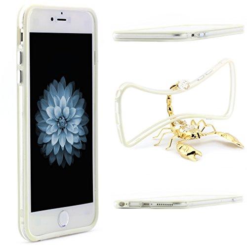 iPhone 6 / 6s Silikon Schutz Hülle TPU Bumper für Apple iPhone 6 / 6s Silikon Cover flexibles Case ScorpioCover hell blau weiss