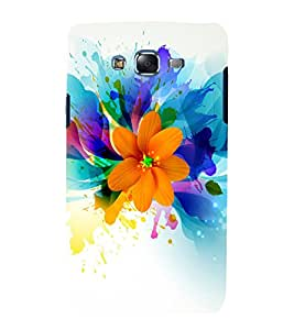 printtech Art Flower Design Back Case Cover for Samsung Galaxy J7 (2016 )