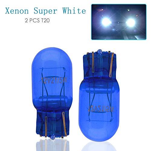 Maso T20 Standlicht und DRL, W21, 5W, D580, Doppelleuchtdrähte, Superweiß, Leuchtmittel mit HID-Effekt (2 Stück)