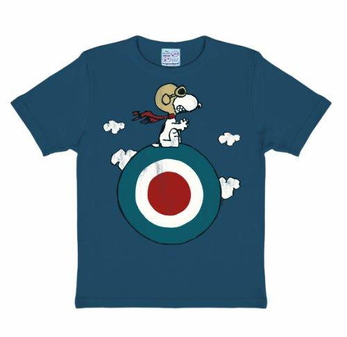 Logoshirt Unisex Kinder T-Shirt   - Blau - Bleu Medium - 140/152 (Herstellergröße: 10-12 ans) (2014 Snoopy)
