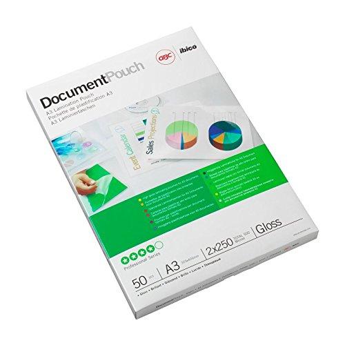 GBC Laminiertaschen A3, 2 x 38 Micron glänzend, für große Dokumente (Poster, Schilder, Pläne), 200 Stück
