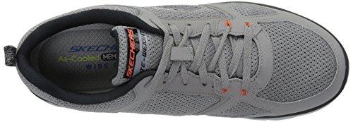 Skechers Flex Advantage 2.0, Scarpe Sportive Outdoor Uomo Light Gray/Orange