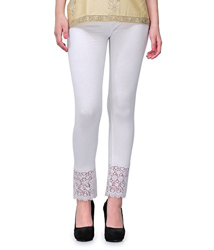 PI World White Lace Plazzo Legging(Viscose Lycra-4 Way Stretchable)