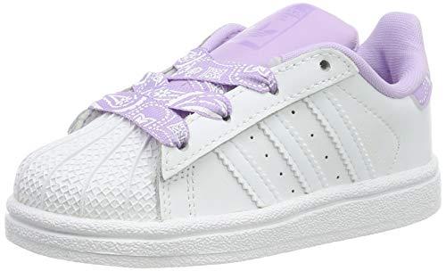 adidas Superstar I, Zapatillas Unisex Niños, Blanco (FTWR White/FTWR White/Purple Glow FTWR...