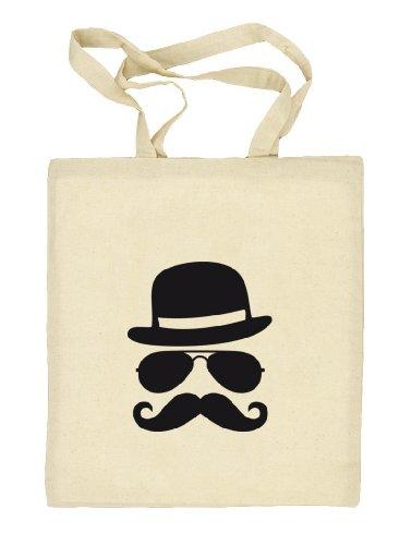 Shirtstreet24, COOL MOUSTACHE, Mustache Schnurrbart Stoffbeutel Jute Tasche (ONE SIZE) Natur