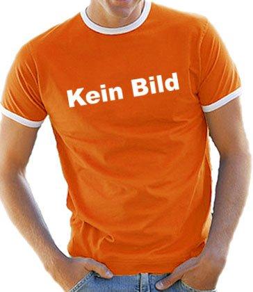 Touchlines Herren Kontrast / Ringer T-Shirt KEIN BILD, B5058, orange/white, Gr. M (Bild Ringer T-shirt)