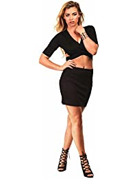 PILOT® Women's Plain Bodycon Mini Skirt in Black
