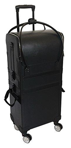 Comair 7001231 Werkzeugkoffer Duo auf Rollen mit abnehmbarer Tasche Alu, schwarz