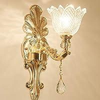 Detectoy Estilo Europeo llevó la luz Brillante de la Pared de Cristal lámpara Brillante para el Dormitorio Sala de Estar TV de Fondo Pared decoración del hogar B179