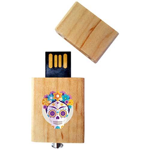 My Custom Style Pen Drive USB Kollektion #Halloween_A#4/8/16 Gb Legno_4 GB Halloween-Teschio_2