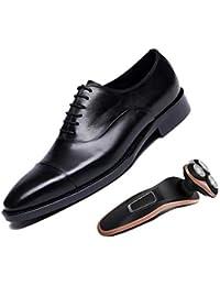 224d3948a6195 Derby Puntiagudo Zapatos De Cuero para Hombre De Negocios Marrón Negro  Cuero Suave Raíz Cuadrada Inglaterra