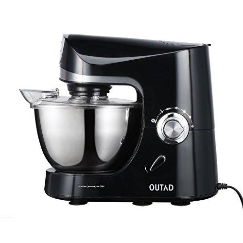 Küchenmaschine OUTAD Küchenmaschine Rührgerät Rührschüssel (220-240V, 1200 Watt, 4,5 Liter, 10 Speed Küche Elektrische Mischmaschine)