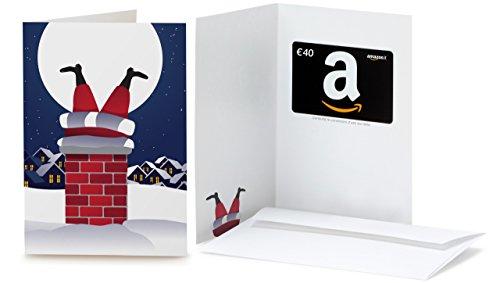 Buono Regalo Amazon.it - €40 (Biglietto d'auguri Babbo Natale Comignolo)